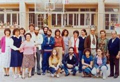 Claustre i part del personal no docent (anys 80)